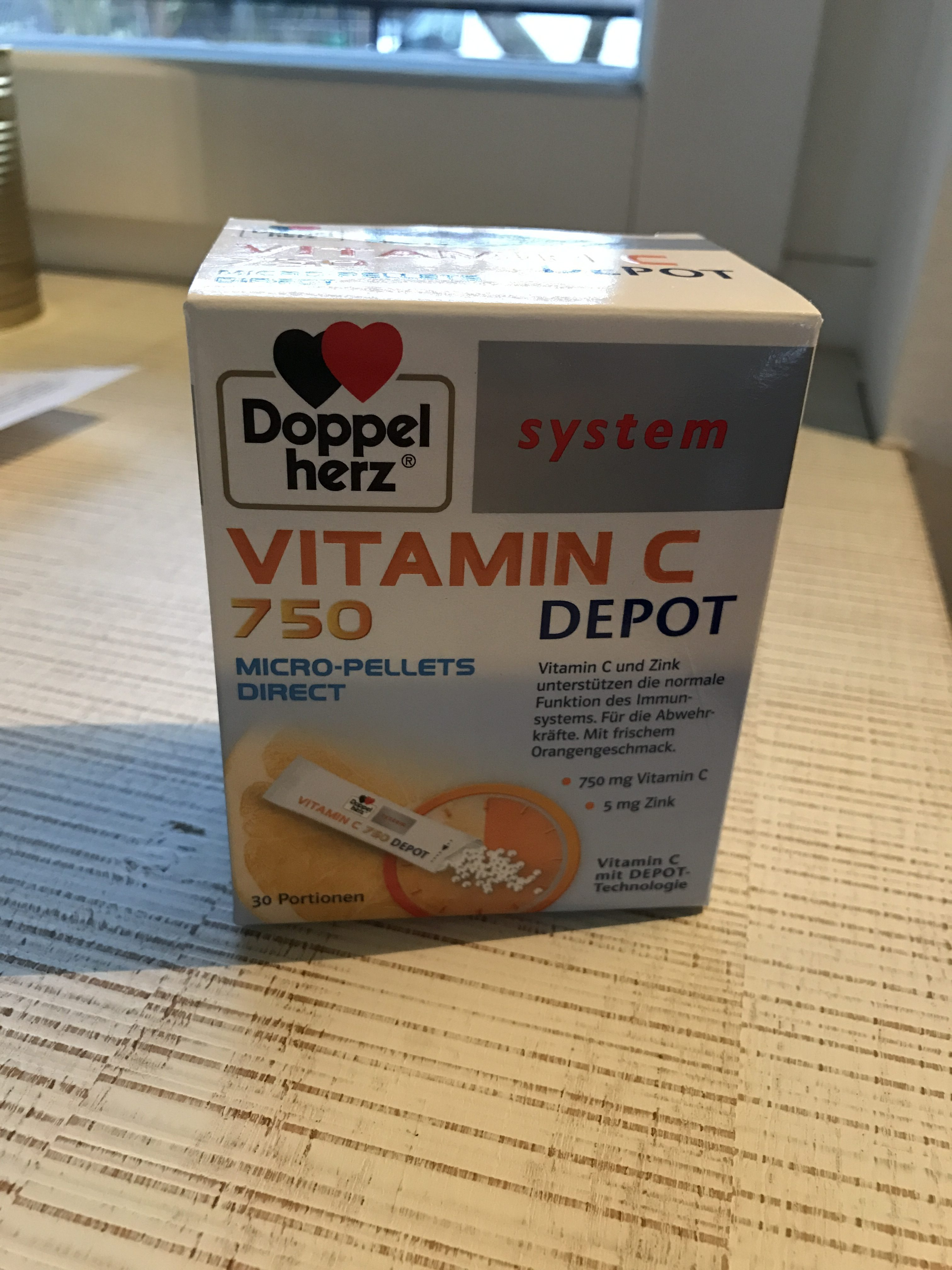 Produkttest Doppelherz system Vitamin C Depot
