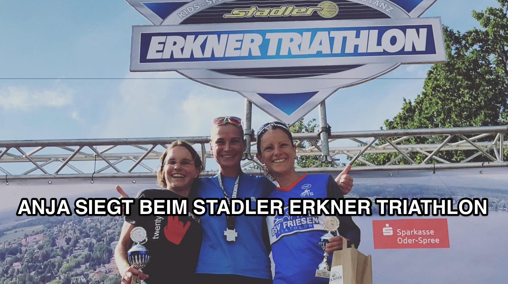 Anja siegt beim Stadler Erkner Triathlon